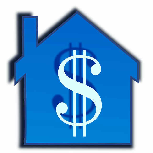 modrý domek, znak dolaru